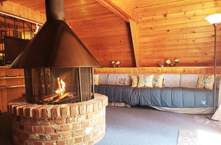 Smores at the fireplace? Scoot up to the warmth