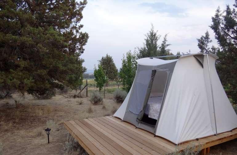 Canvas Cabin at Rainshadow Organics