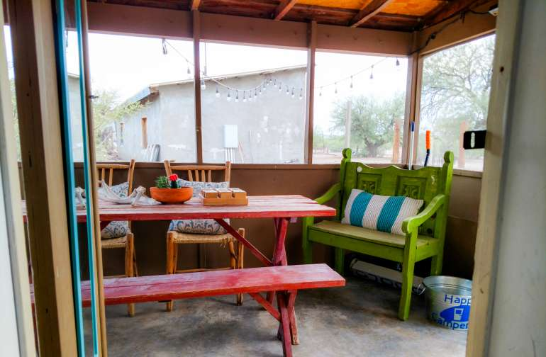 Enjoy complimentary Starbucks coffee and tea selection in your own screened in porch