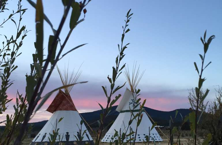 The Tipis! Spirit Warriors and Many Lakes.