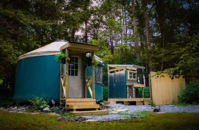Little Green Yurt of Cedar Mountain!