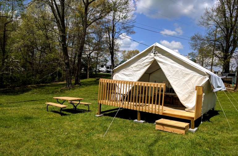 Welcome to our Glamping tent!