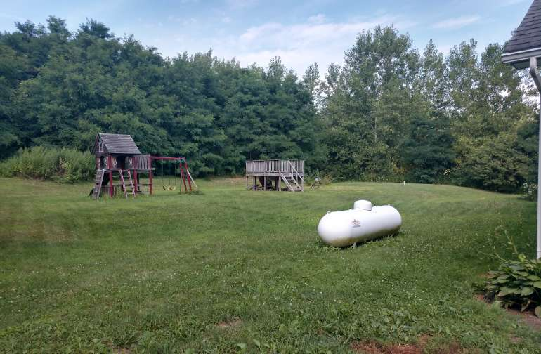 Close to main backyard camping for the Lil ones if needed