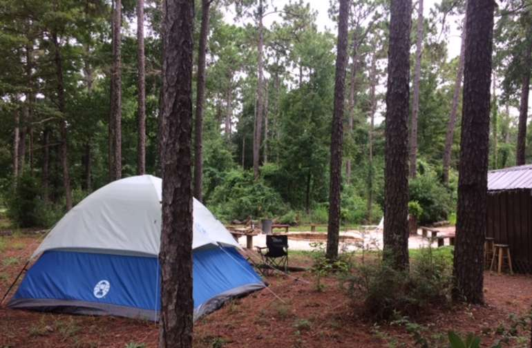Set up Glamping tent with air mattress