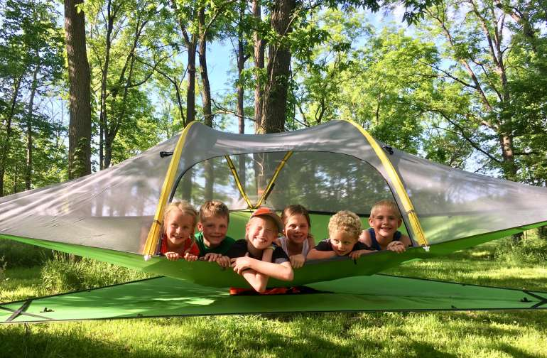 Kids just love the tree tent!