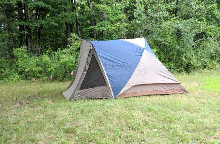 Our tent set up on site. :)