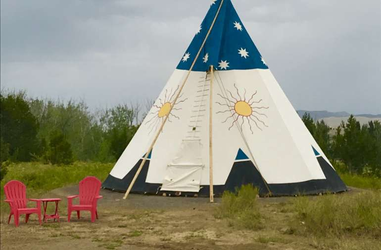And we are ready for guests.  The Tipi was christened with a nice rain shower.  We have been waiting for one like that all summer long.  What a blessing!