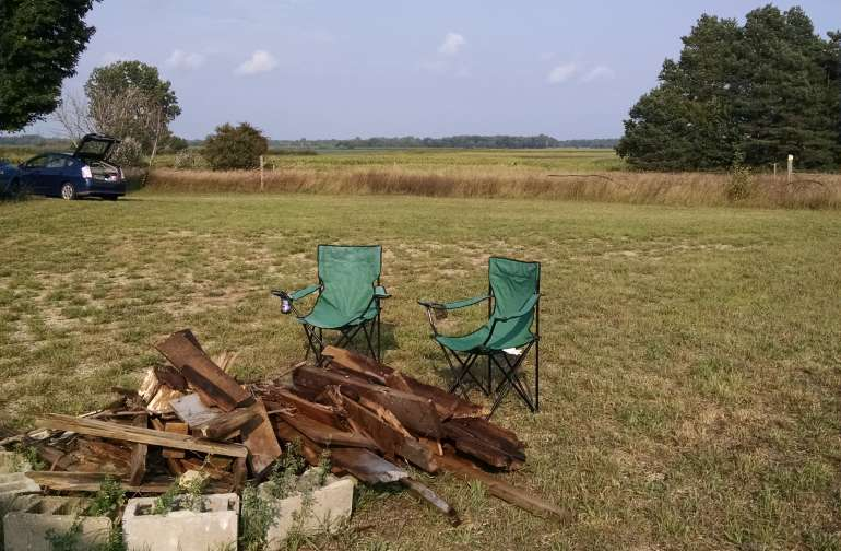 Camp fire pit.