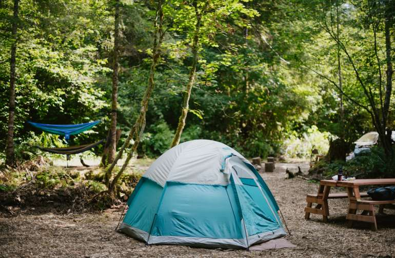There's plenty of space at campsite #2 and can easily fit groups of people there.