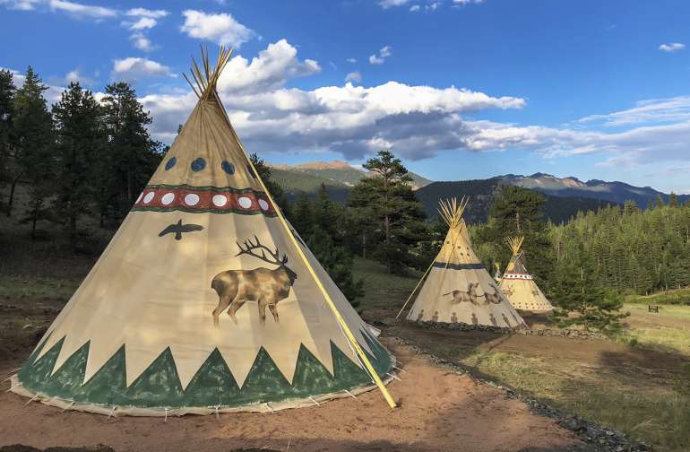18ft Tipi at Bison Peak Lodge