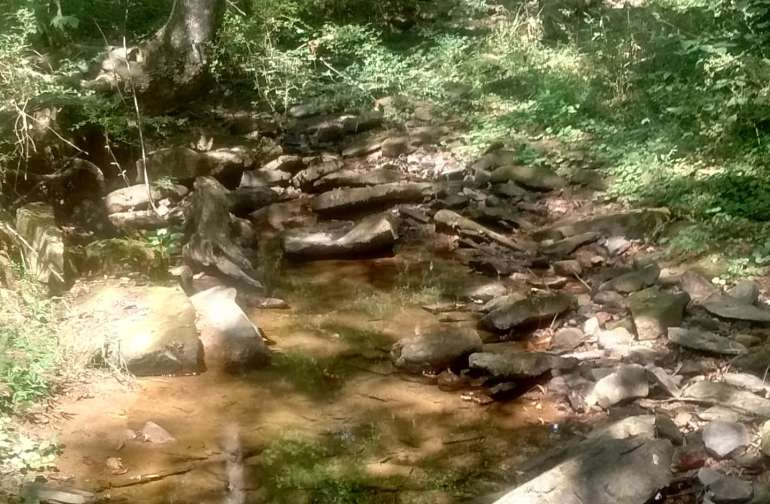 Small stream to hike to. Time enjoy peace and quiet.