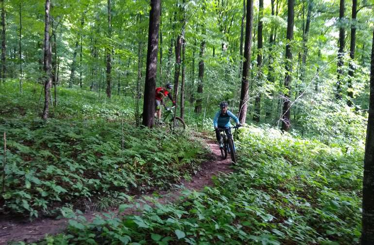 Silver Creek Trails in the CORBA trail system, just 1/2 mile gravel ride from our farm, Silver Creek Springs.  Host Tony is the Trail Liaison for these wonderful trails.