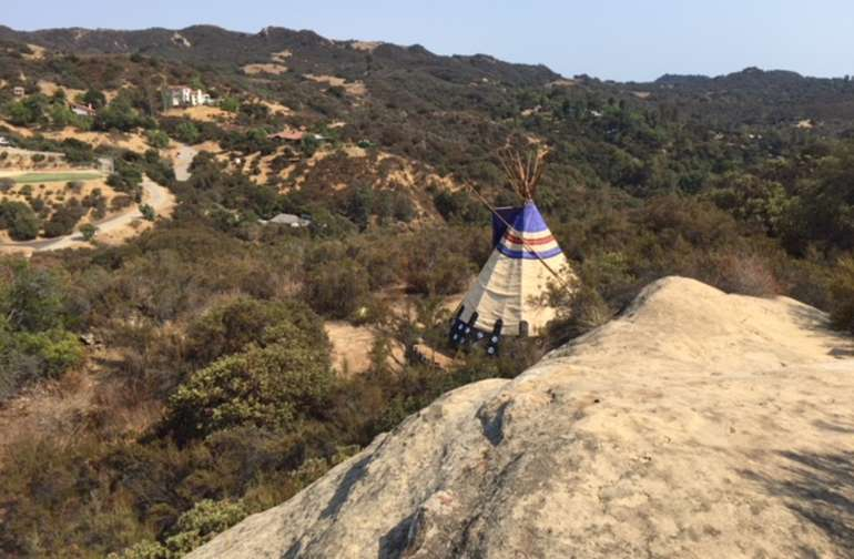Romantic Tipi-4-Two on pristine high desert over-looking Topanga Canyon
