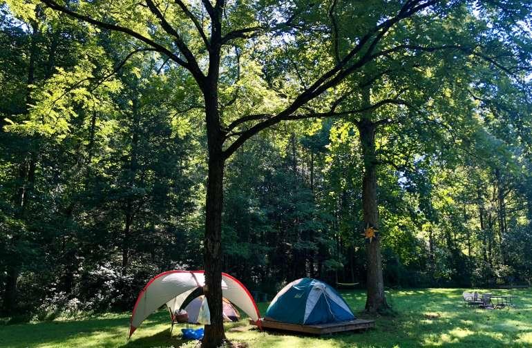 Camping Platform at Cane Creek Farm
