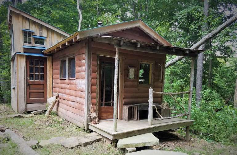 Cabin is completely off grid - no electricity, but there is cell service at the location.