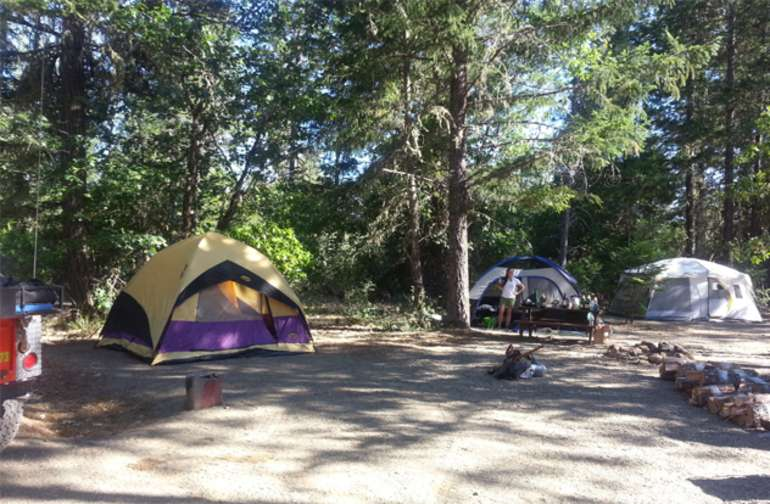 We have sites for multiple tents and single tent sites