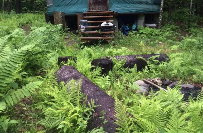 20' yurt at the creek
