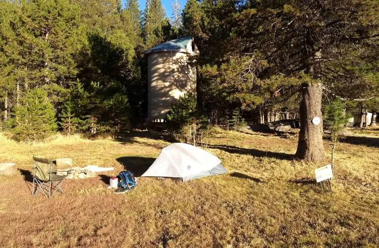 Small footprint camp all set up!