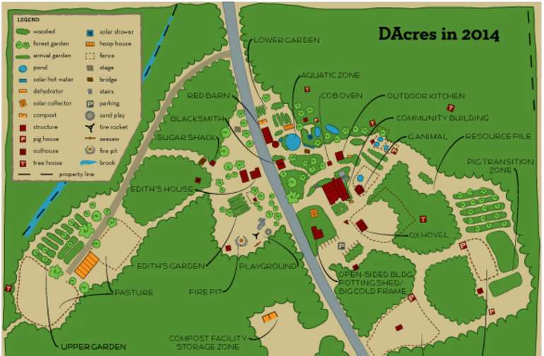 map of dacres