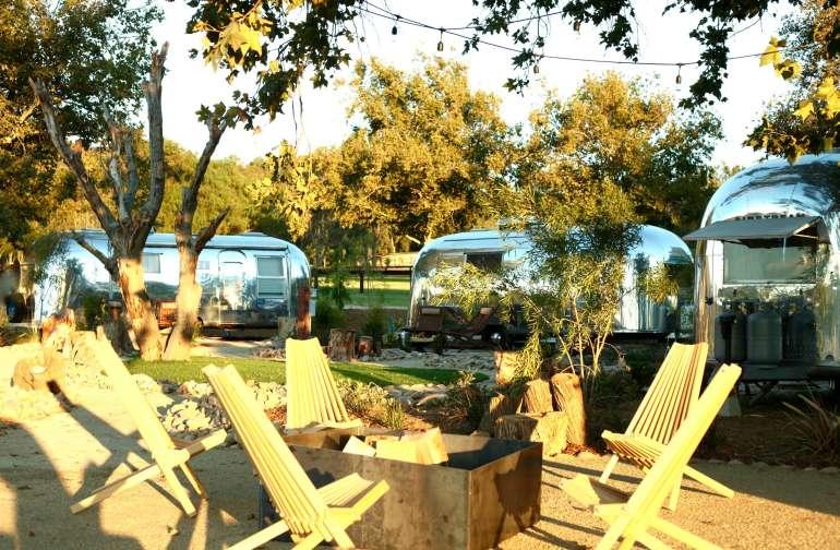 Vintage Airstreams on Wine Trail
