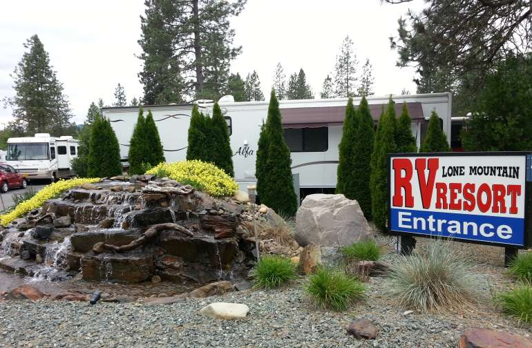 Entry to our beautiful RV Resort