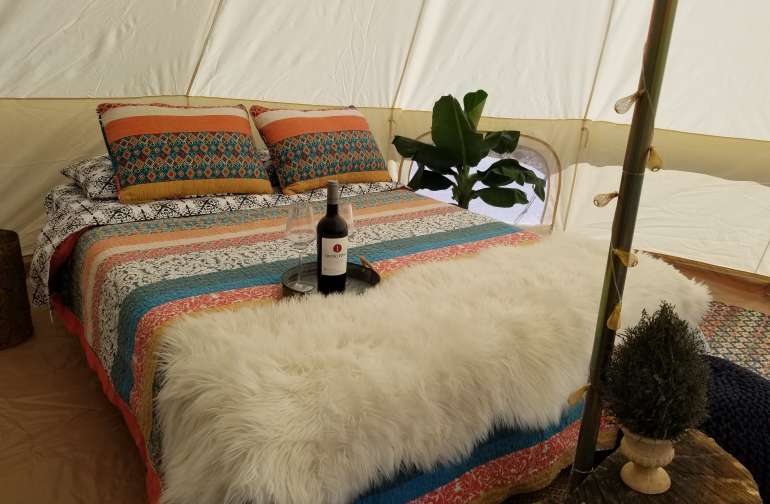 Glamping with views in Murphys!
