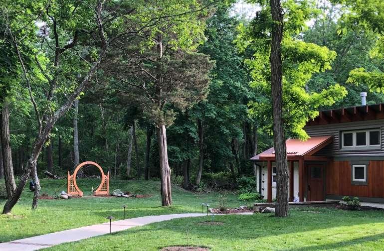 Our beautiful grounds & bathroom facility