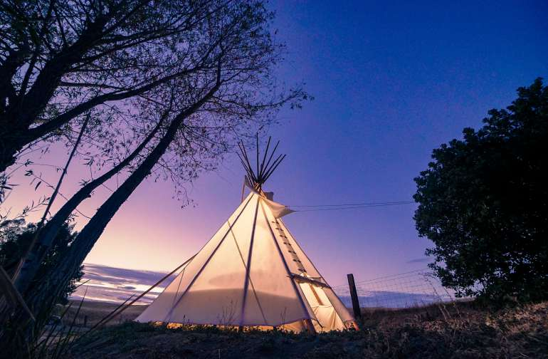 Teepee on working family farm
