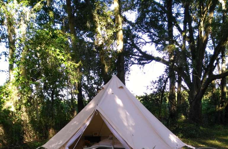 Glamping Under the Spanish Oaks