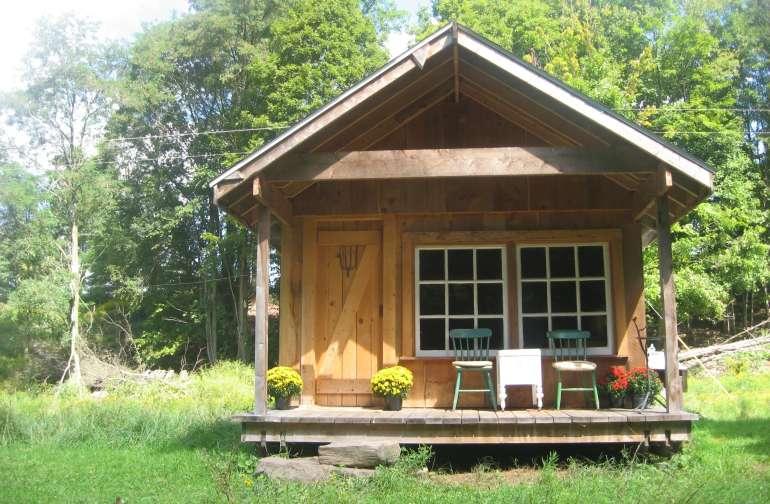 Farmhand Cabin overlooking stream