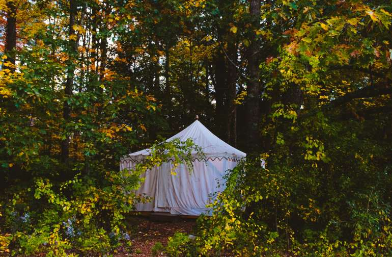 forest lodging canvas tent