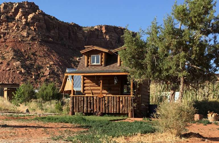 Coral Pink Ranch Rustic Tiny Cabin