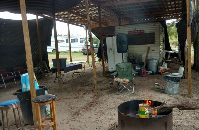 this is where we sing karaoke Friday and Saturday we sing karaoke and play in the mud so make sure you have old clothes and tall boots because this is   one redneck place love by all out door people so many thing here but no internet