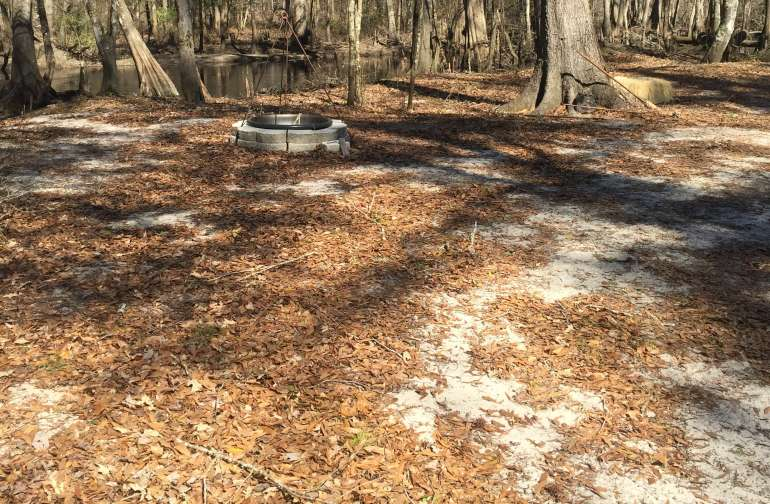 Primitive Camping area with fire pit