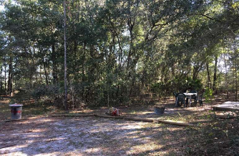 Privacy in a wooded setting with parking close to site.