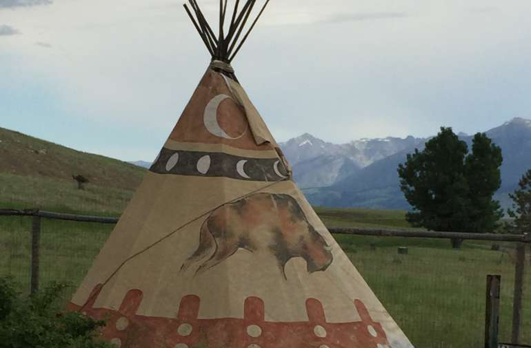 Tepee is available upon request.