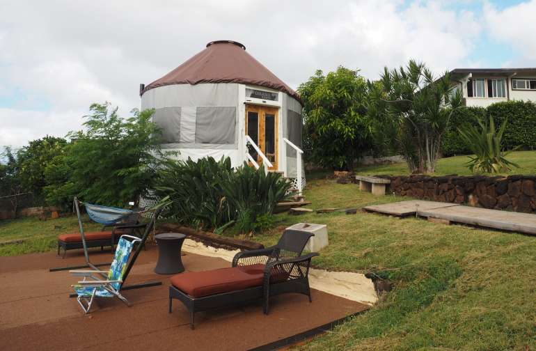 Yurt Glamping in Central Oahu!