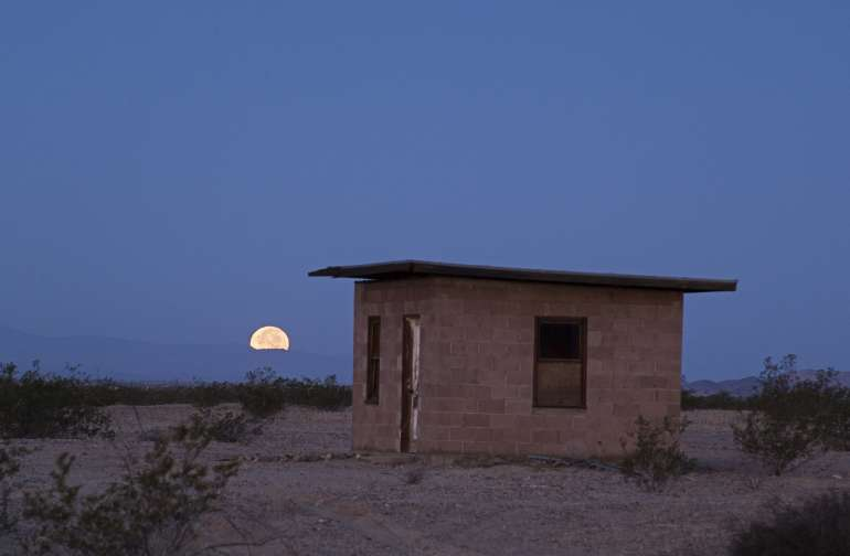 Moon sets beyond #hammockhut