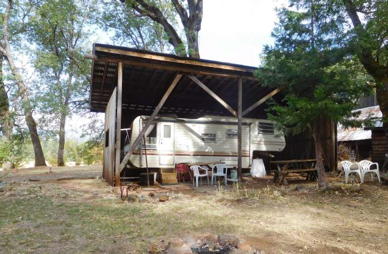 Forest Springs RV with fire ring, tent areas