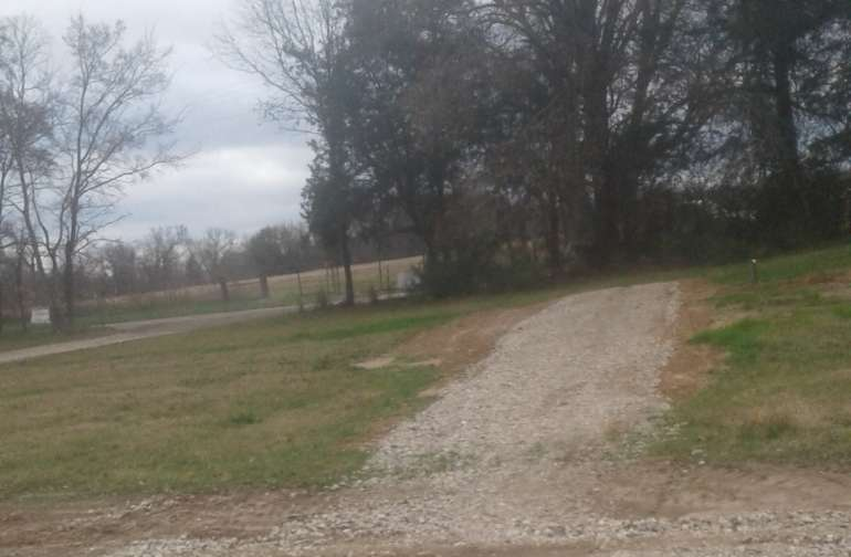 Driveway, parking for Lot 1, Lot 1 to the left