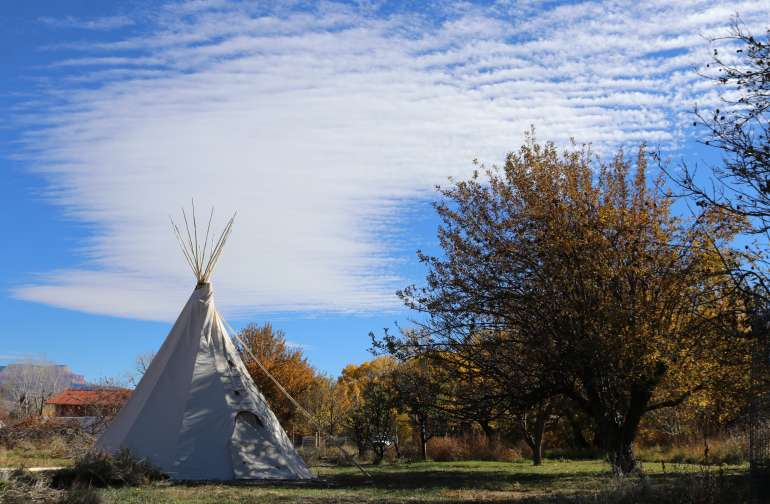 River Stone RED Tipi near Bryce NP