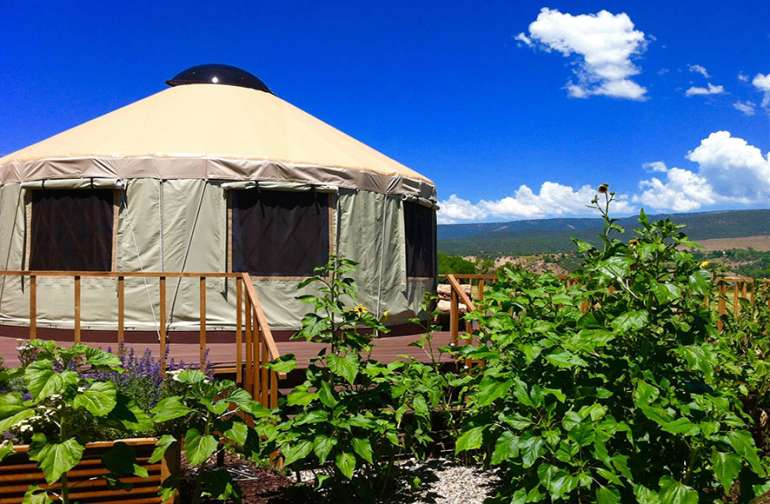 Yurt with Mountain Views