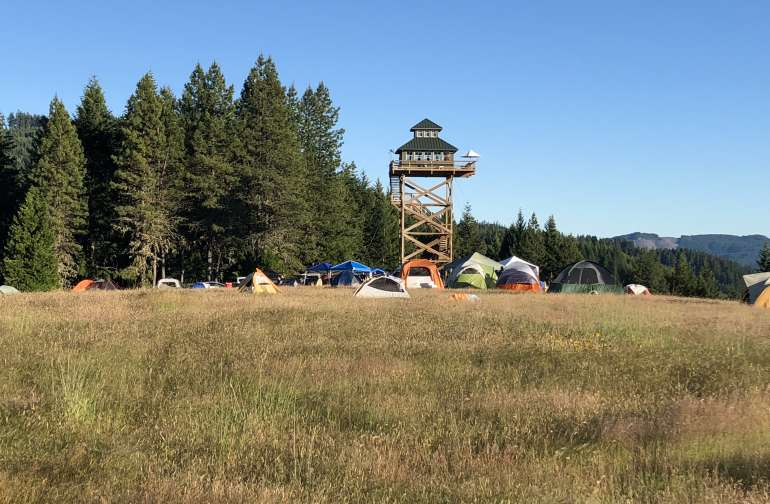 The Summit Prairie Lookout - 160 acres of private land in the middle of Umpqua National Forest.