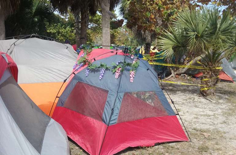 HISTORIC VIRGINIA KEY- TENT CAMPING