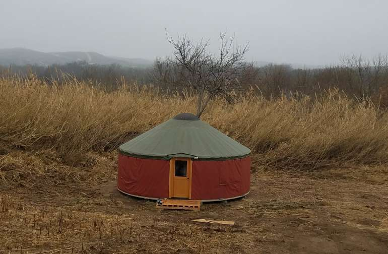 With over 400 feet of camping space, this Yurt in the Reeds is a unique hidden escape from the busy parks and  offers plenty of room to really stretch out.