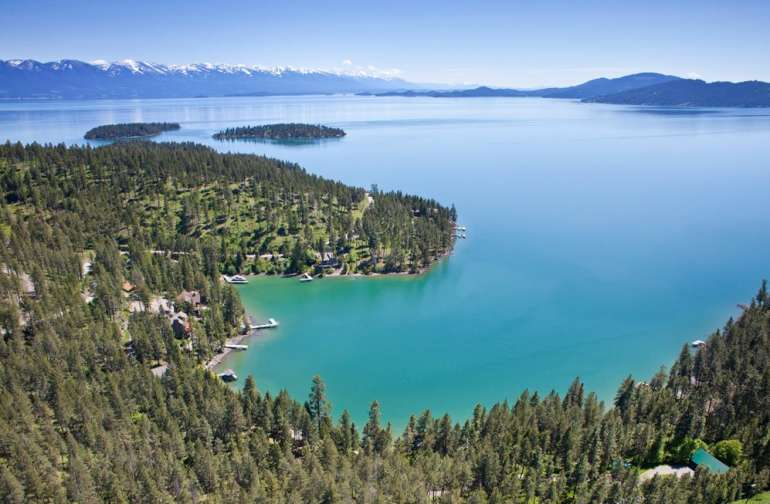 Flathead Lake is right out the door!