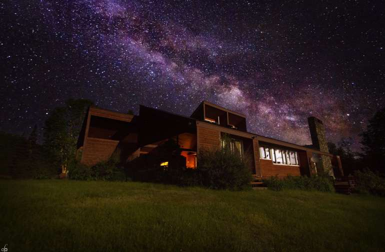 Under the milky way at That 70's House