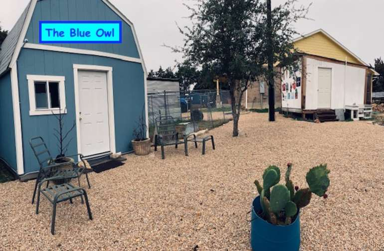 The Blue Owl, your own private getaway with AC/heater.