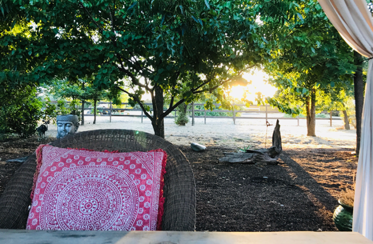 Enjoy a sunset from our outdoor dinning area.