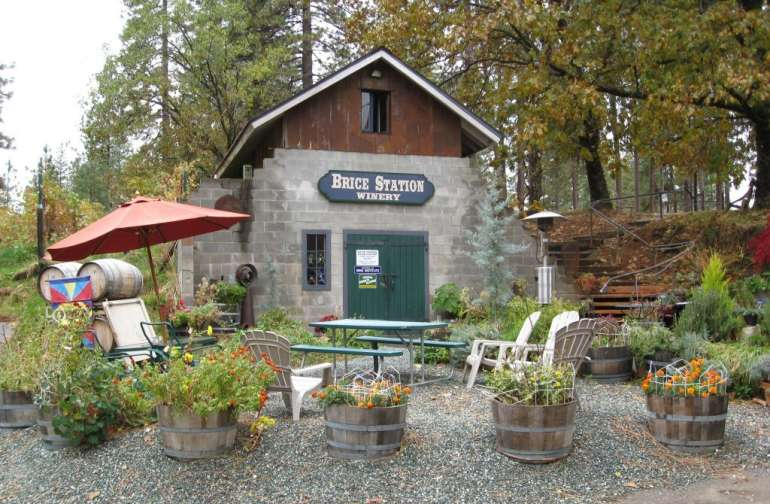 Brice Station's tasting room